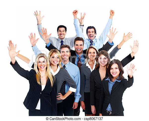 team., lycklig, affärsfolk - csp8067137