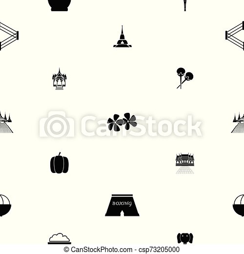 thailand, icon., seamless, fond mönstra - csp73205000