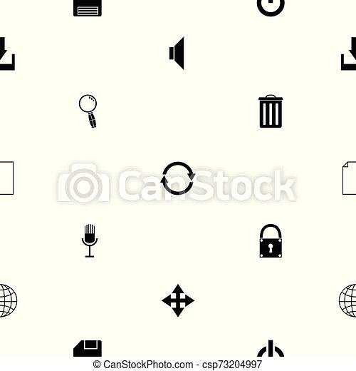 toolbar, mönster, icon., seamless, bakgrund - csp73204997