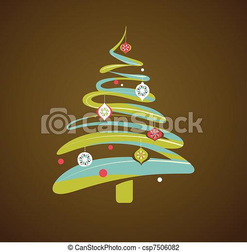 träd, jul, bakgrund, jul - csp7506082