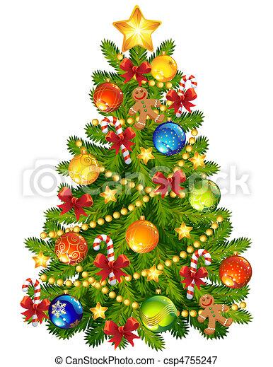 träd, jul - csp4755247
