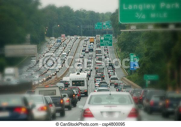 trafik, blodstockning - csp4800095