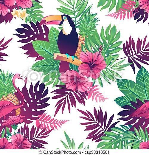 tropisk, pattern., seamless - csp33318501