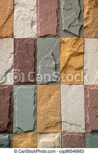 vägg, architecture., bakgrund, gammal, tegelsten mönstra, nymodig, struktur - csp86546683
