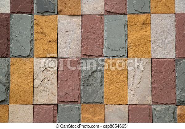 vägg, architecture., bakgrund, gammal, tegelsten mönstra, nymodig, struktur - csp86546651
