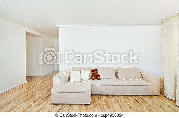 vägg, inre, nymodig, gratis, hem - csp4936034
