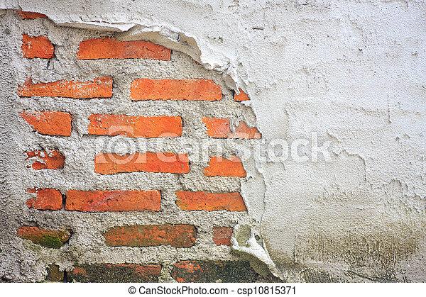 vägg, tegelsten, gammal, bakgrund, struktur - csp10815371