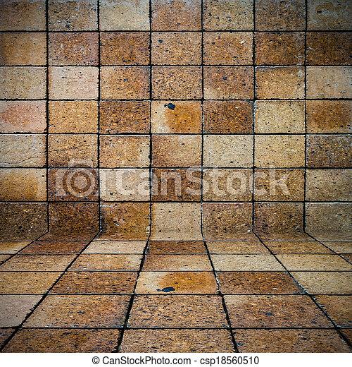 vägg, tegelsten, gammal, bakgrund, struktur - csp18560510