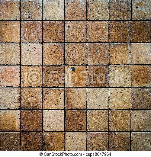 vägg, tegelsten, gammal, bakgrund, struktur - csp18047964