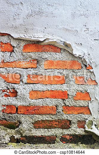 vägg, tegelsten, gammal, bakgrund, struktur - csp10814644