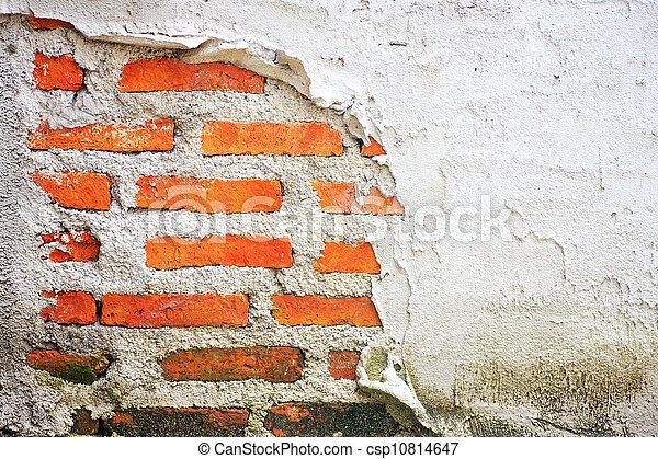 vägg, tegelsten, gammal, bakgrund, struktur - csp10814647