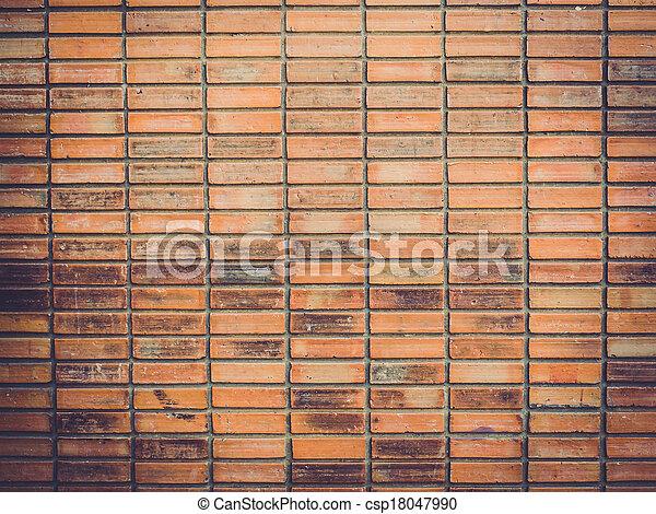 vägg, tegelsten, gammal, bakgrund, struktur - csp18047990