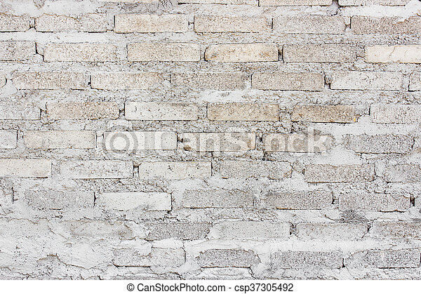 vägg, tegelsten, gammal, bakgrund - csp37305492