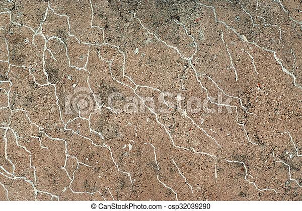 vägg, tegelsten, gammal, texture. - csp32039290