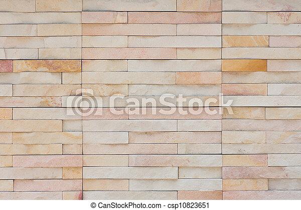 vägg, tegelsten, nymodig - csp10823651
