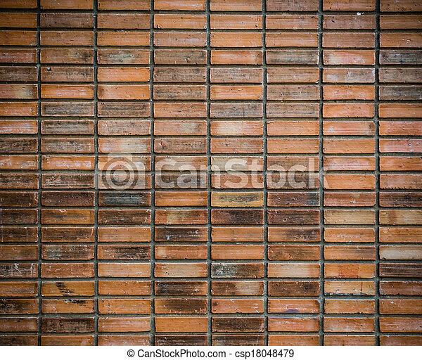 vägg, tegelsten, struktur, bakgrund - csp18048479
