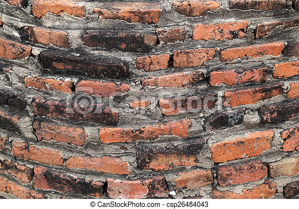 vägg, tegelsten, struktur, bakgrund - csp26484043