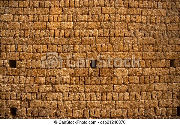 vägg, tegelsten, texture. - csp21246370