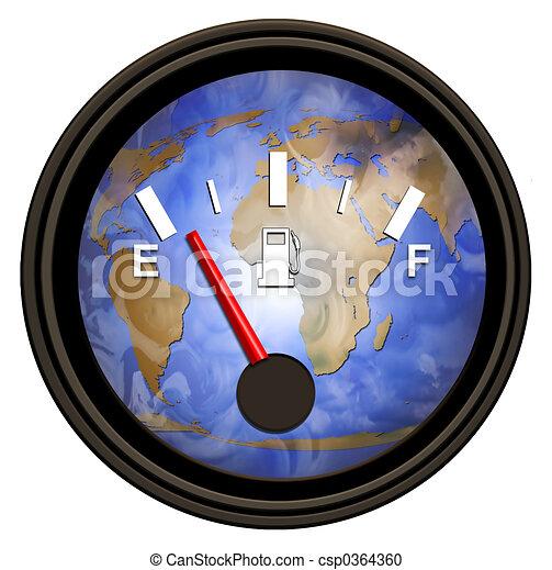 värld, bensin, mätare - csp0364360
