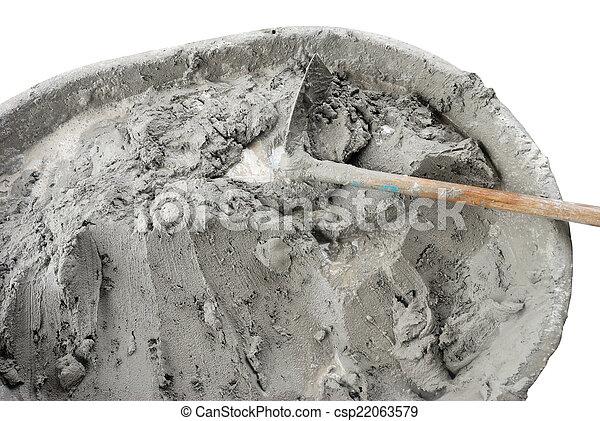 våt cement - csp22063579