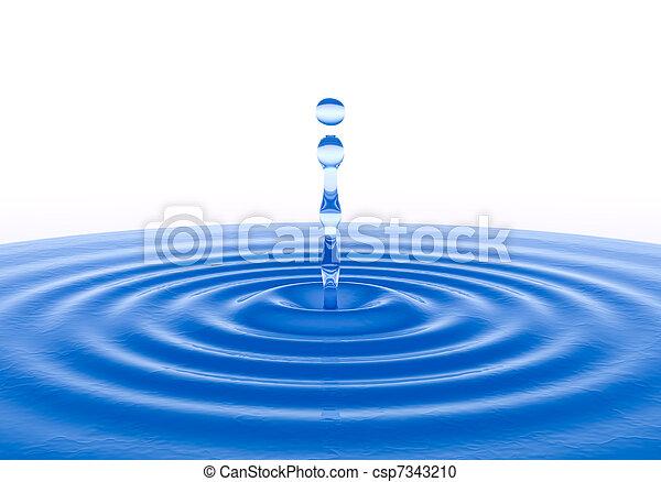 vatten gnutta - csp7343210
