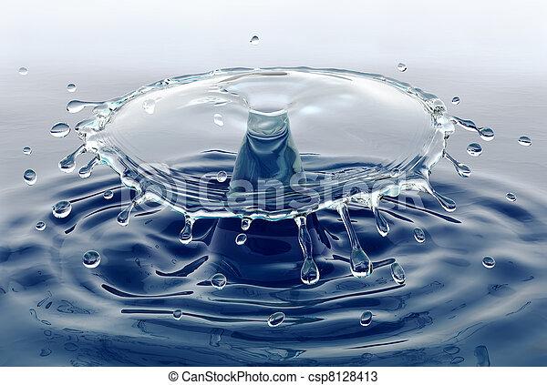 vatten, plaska - csp8128413