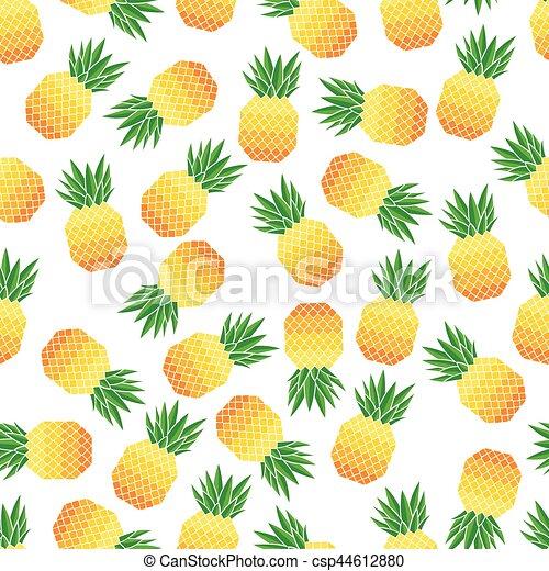 vektor, mönster, ananas, seamless, illustration - csp44612880