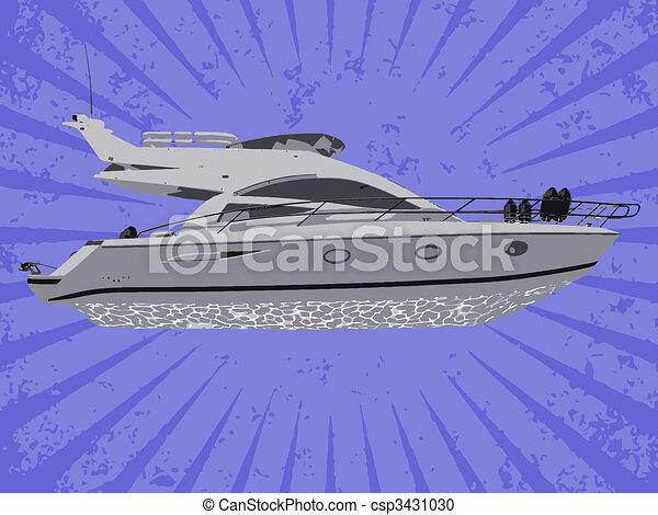 vektor, yacht - csp3431030