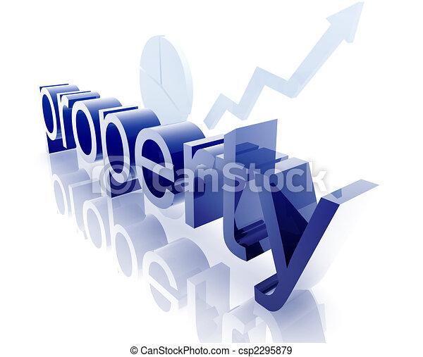 verklig, förbättra, egenskap, egendom - csp2295879