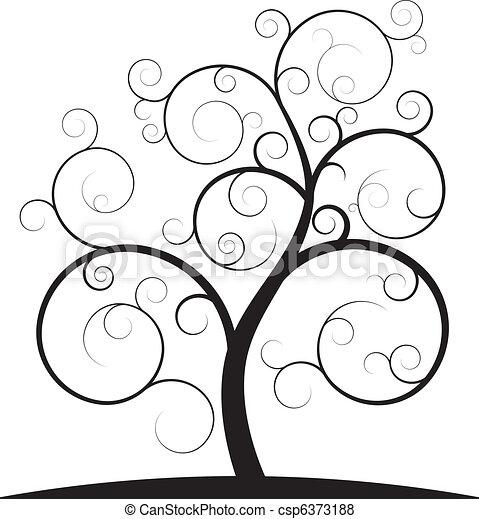 virvla runt, träd - csp6373188
