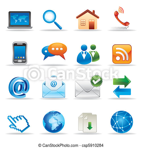websajt, internet ikon - csp5910284