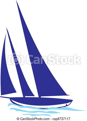 yacht, silhuett - csp8737117