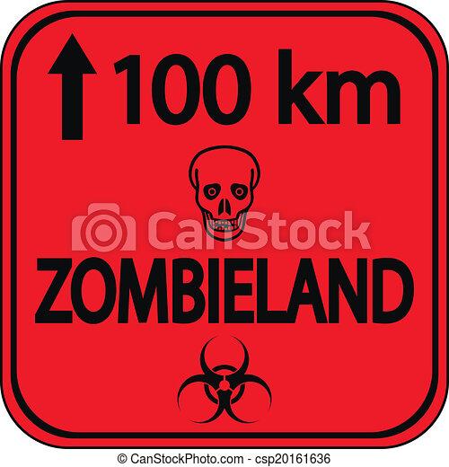 zombieland, vägmärke - csp20161636
